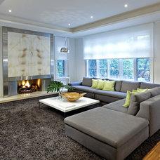 Contemporary Family Room by Douglas Design Studio
