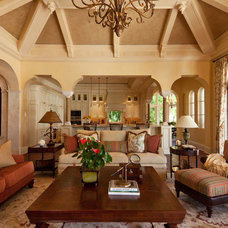 Traditional Family Room by Douglas Design Studio