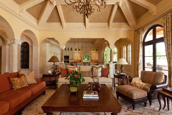 Traditional Family Room by Douglas Design Studio