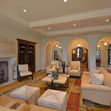 Mediterranean Family Room by DTM INTERIORS