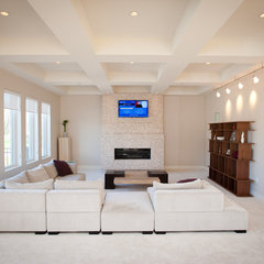 contemporary family room by Eddy Homes