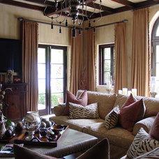 Mediterranean Family Room by Elias Benabib, Corp.