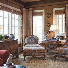 Traditional Family Room by Elizabeth Anne Star Interiors