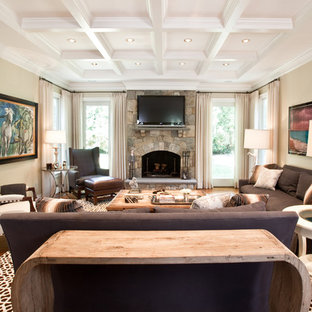 Example of an eclectic family room design in DC Metro