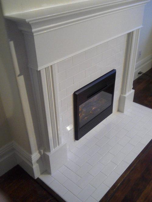 Subway Tile Fireplace Houzz