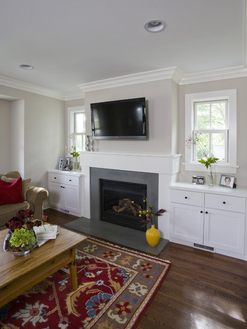 Family Room Fireplace Houzz