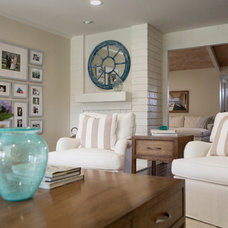 Transitional Family Room by Talianko Design Group, LLC