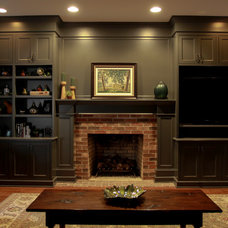 Traditional Family Room by Melissa M. Tase