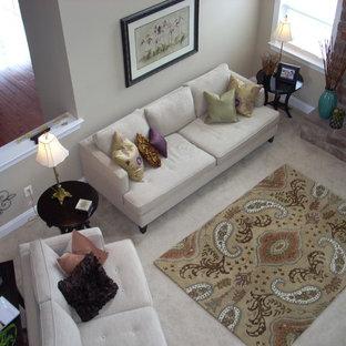 Example of a minimalist family room design in Philadelphia