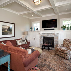 Traditional Family Room by Gabberts Design Studio