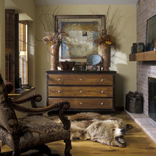 Eclectic Family Room by Garrity Design Group