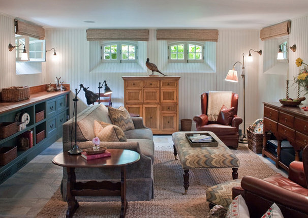 Eclectic Family Room by Giambastiani Design