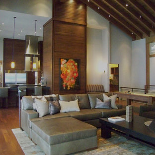 Inspiration for a contemporary family room remodel in Seattle