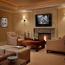 Traditional Family Room by Gregory Carmichael