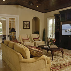 Mediterranean Family Room by Gritton & Associates Architects