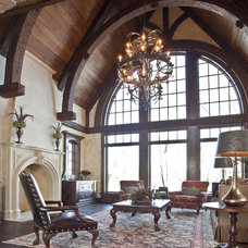 Traditional Family Room by Hendel Homes