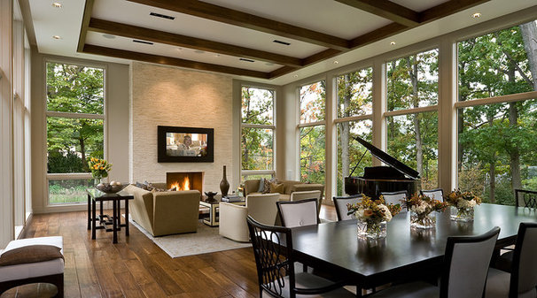 Contemporary Family Room by Highgate Builders