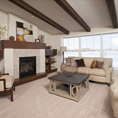 traditional family room by Homes by Tradition