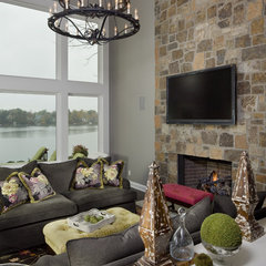 contemporary family room by Hoskins Interior Design