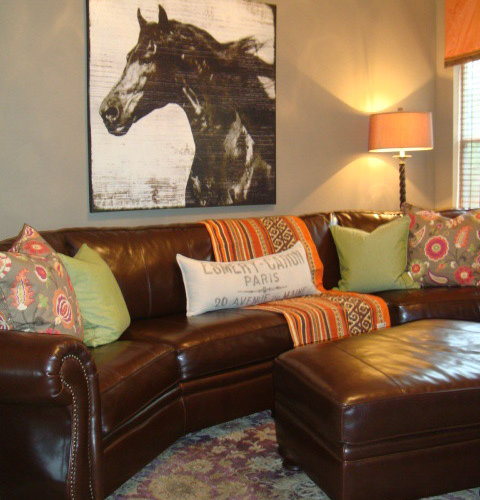 Curved Leather Couch Photos