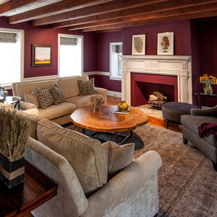 Family Room in 300 Year Old Farmhouse - Danziger Design