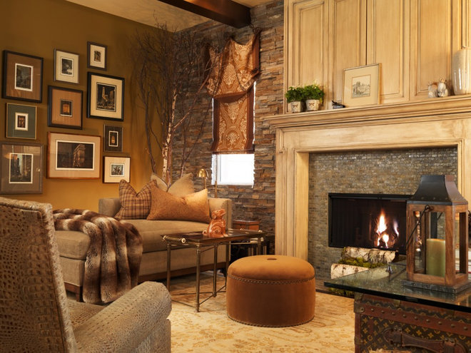 Traditional Family Room by Interiors by Cary Vogel