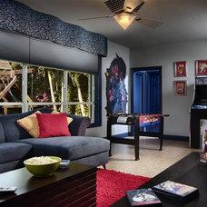 Modern Family Room by Interiors by Myriam, LLC