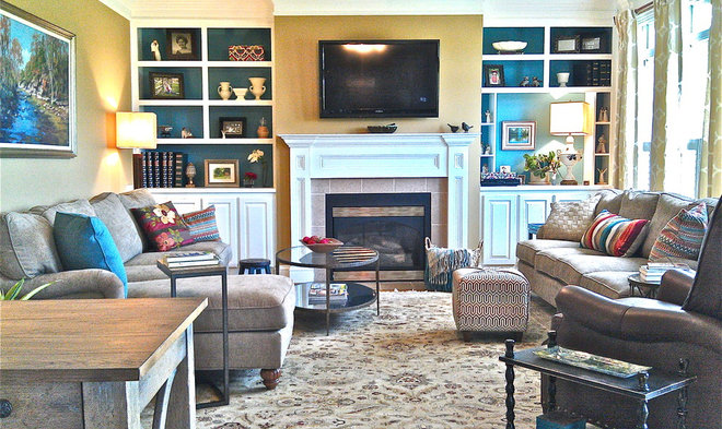 Traditional Family Room by Interiors Unleashed