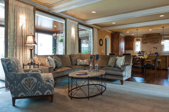 Eclectic Family Room by Jenny Van Stone Interior Design
