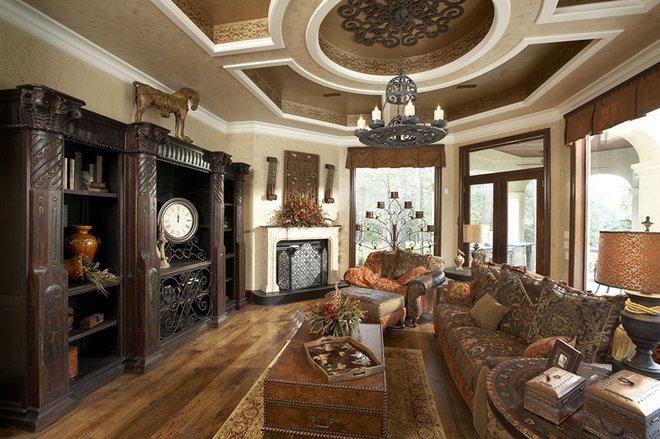 Mediterranean Family Room by John Termeer