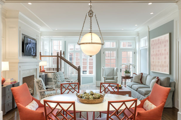 Eclectic Family Room by Kathleen Virginia Photography