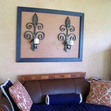 Mediterranean Family Room by Kimberly @Lark Design