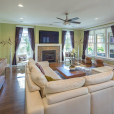 Traditional Family Room by Kipnis Architecture + Planning