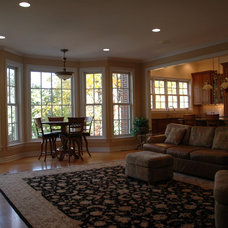 Traditional Family Room by Christopher D. Marshall Architect, LLC