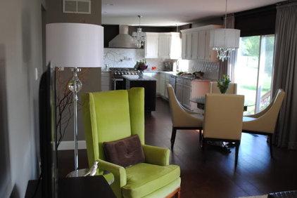 Contemporary Family Room by Karen Viscito Interiors