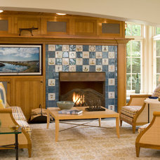 Traditional Family Room by Laurie S Woods, ASID