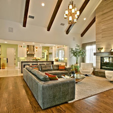 Transitional Family Room by Lighting Etc.