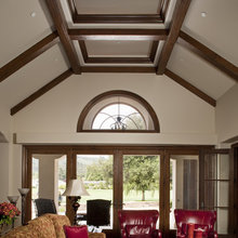 Wood beams/clipped cathedral ceiling