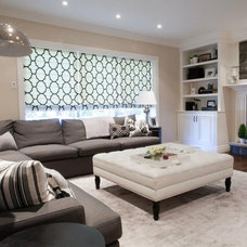 Contemporary Family Room by Lux Decor