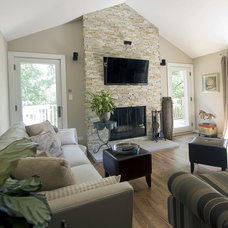 Transitional Family Room by Mandy Brown