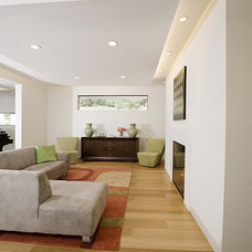 Contemporary Family Room by Mark English Architects, AIA