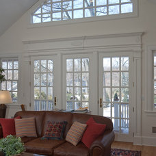 Traditional Family Room by Michael Sisti