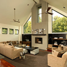Modern Family Room by Michelle Miller Interiors