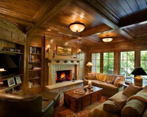 Pleasing Den Ideas Design Ideas Remodel Pictures Houzz Largest Home Design Picture Inspirations Pitcheantrous