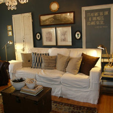 Eclectic Family Room by mylovelylittlelulu
