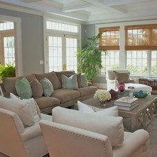 Contemporary Family Room by Charette Interior Design, Ltd.