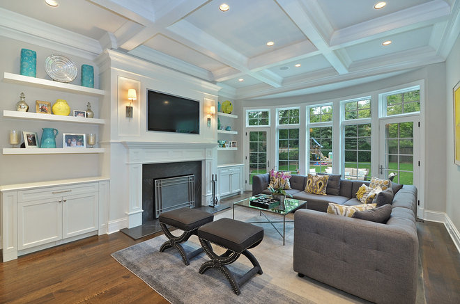 Transitional Family Room by Newgard Custom Homes