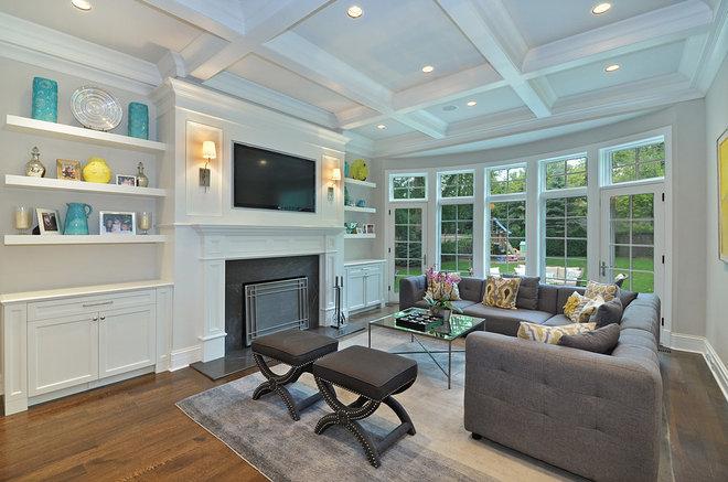 Transitional Family Room by Newgard Custom Homes