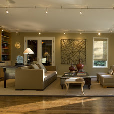 Contemporary Family Room by Nora Schneider Interior Design