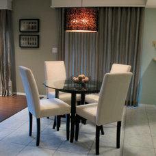 Contemporary Family Room by P. Scinta Designs, LLC